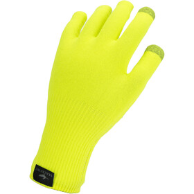 Sealskinz Waterproof All Weather Ultra Grip Gants en maille tricotée, neon yellow